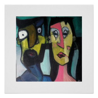 Abstract couple poster