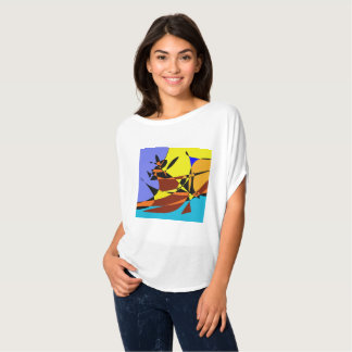 Abstract cowgirl T-Shirt