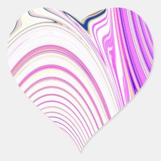 Abstract Creation Heart Sticker