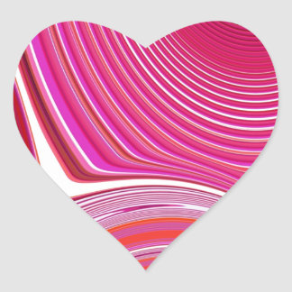 Abstract Creation Heart Sticker
