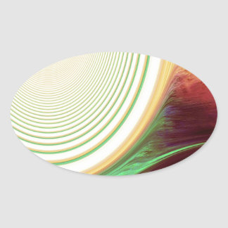 Abstract Creation Oval Sticker