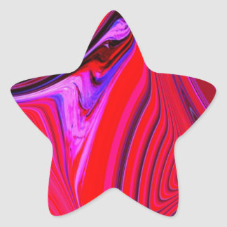 Abstract Creation Star Sticker