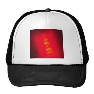 Abstract Crystal Reflect Bright Red Trucker Hat