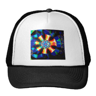 Abstract Crystal Reflect Medal Trucker Hat