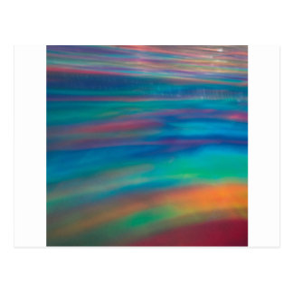 Abstract Crystal Reflect Paint Postcard