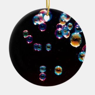 Abstract Crystal Reflect Rain Ceramic Ornament