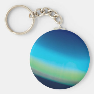 Abstract Crystal Reflect Seabed Basic Round Button Keychain