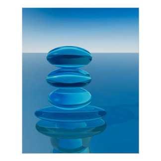 Abstract Crystal Zen Poster
