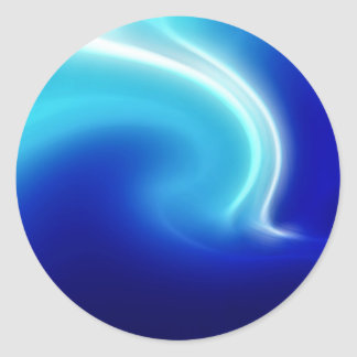 Abstract Crystals Blue Mist Classic Round Sticker