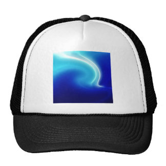 Abstract Crystals Blue Mist Trucker Hat