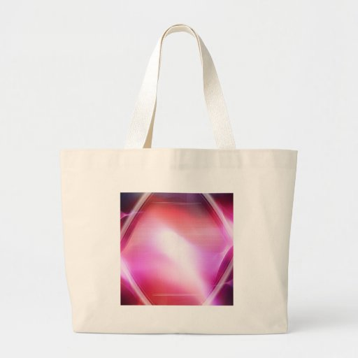 Abstract Crystals Pink Diamond Canvas Bags
