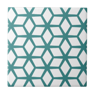 Abstract cube design ceramic tiles