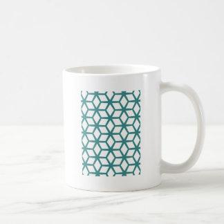 Abstract cube design coffee mug
