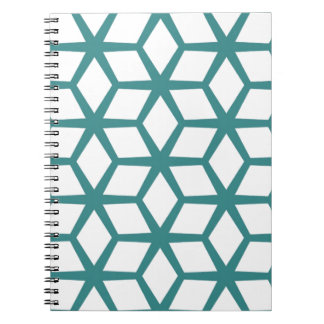 Abstract cube design notebooks