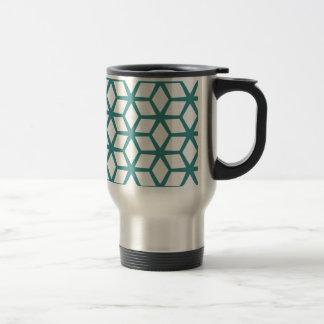 Abstract cube design travel mug