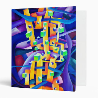 Abstract cubes purple binder