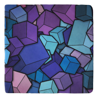 Abstract Cubes Trivet