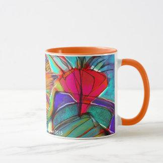 Abstract Cubist Floral mug