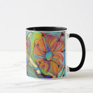 Abstract Cubist Flower mug
