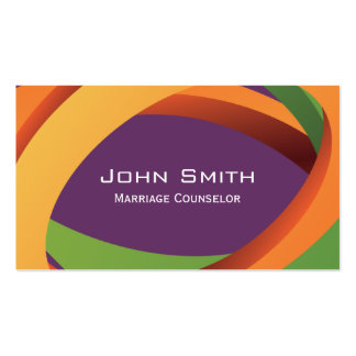 Abstract Curves Marriage Counseling Business Card