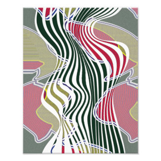 Abstract curves, patterned multi-color wall art photograph