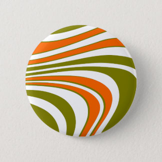 Abstract curvy Stripes 2 Inch Round Button