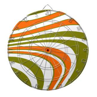 Abstract curvy Stripes Dartboard