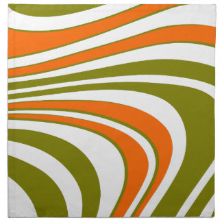 Abstract curvy Stripes Napkin