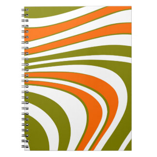 Abstract curvy Stripes Notebook