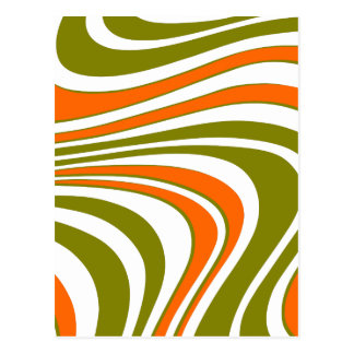 Abstract curvy Stripes Postcard