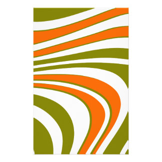 Abstract curvy Stripes Stationery