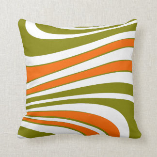 Abstract curvy Stripes Throw Pillow