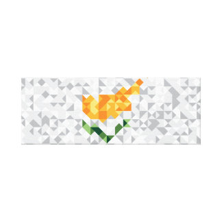 Abstract Cyprus Flag, Cypriot Colors Canvas
