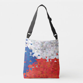Abstract Czech Republic Flag, Czech Colors Bag