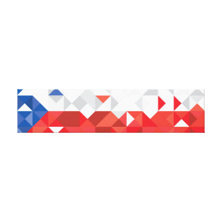 Abstract Czech Republic Flag, Czech Colors Canvas