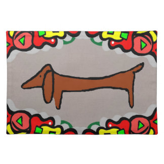 Abstract Dachshund, Weiner Dog Placemat