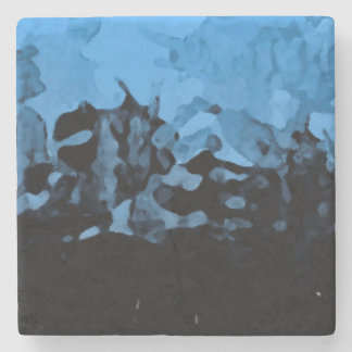 Abstract _dark coaster stone beverage coaster