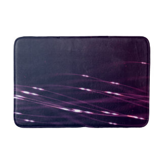 Abstract Dark Purple Bath Mat