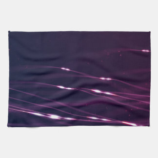 Abstract Dark Purple Kitchen Towel