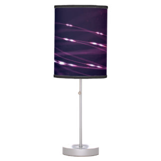 Abstract Dark Purple Table Lamp