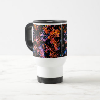 Abstract Dark Rainbow Travel Mug