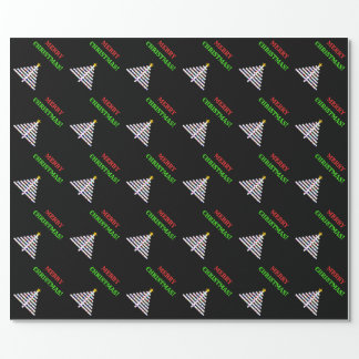 Abstract Decorated Christmas Tree + Greeting Wrapping Paper