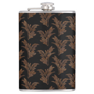 Abstract, decorative damasks hip flask