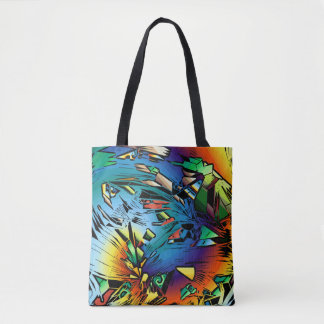 Abstract Decorative Tote 4