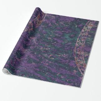Abstract Deep Purple Batik Gift Wrap