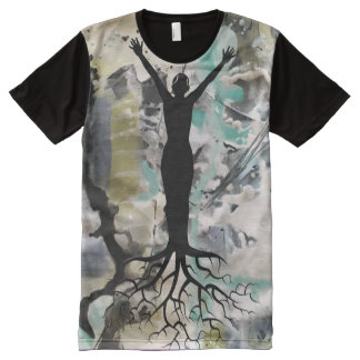 Abstract Deep Rooted All-Over-Print T-Shirt
