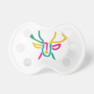 Abstract deer buck pacifier