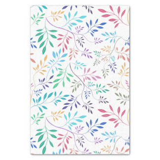 Abstract Delicate Colorful leafs Pattern Tissue Paper