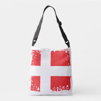 Abstract Denmark Flag, danish Colors Crossbody Bag