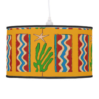 Abstract Desert Star & Cactus Pendant Lamp